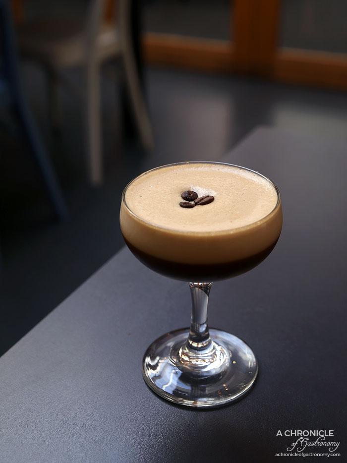 Speakeasy - Espresso Martini - Vodka, Kahlua, Frangelico, Fresh Espresso ($18)