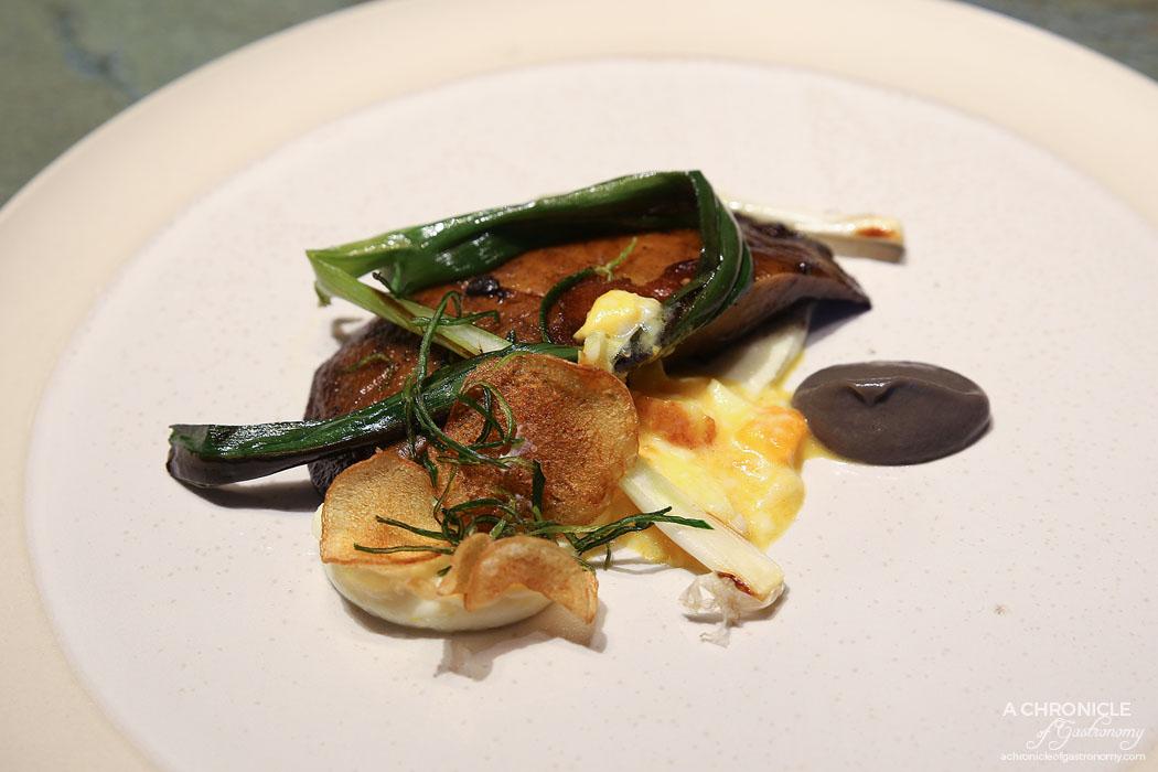 Mercedes Me St Ali - Sweet & Sour - Roasted portobello mushroom, green onion, potato, whipped ricotta, fried slow egg
