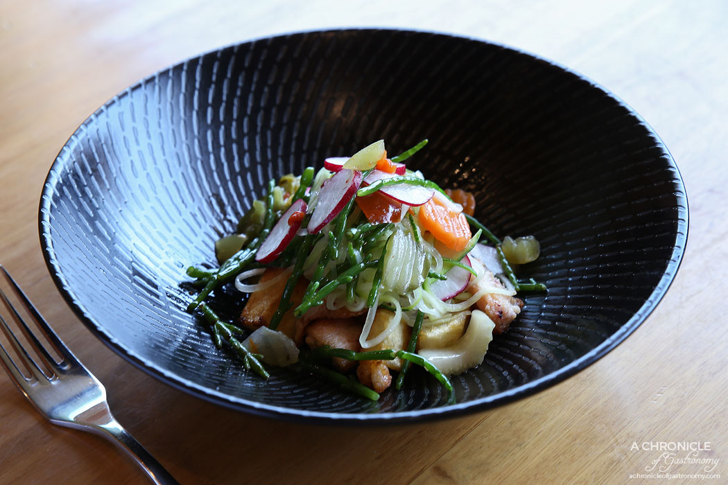 Osteria 20 - South Australian Octopus w green beans, red wine, fried potatoes ($18)