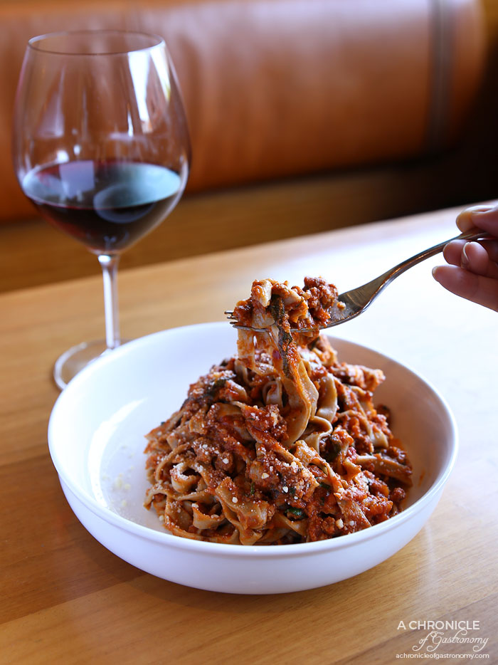Osteria 20 - Wild Boar Chestnut Pappardelle w red wine, rosemary ($28)