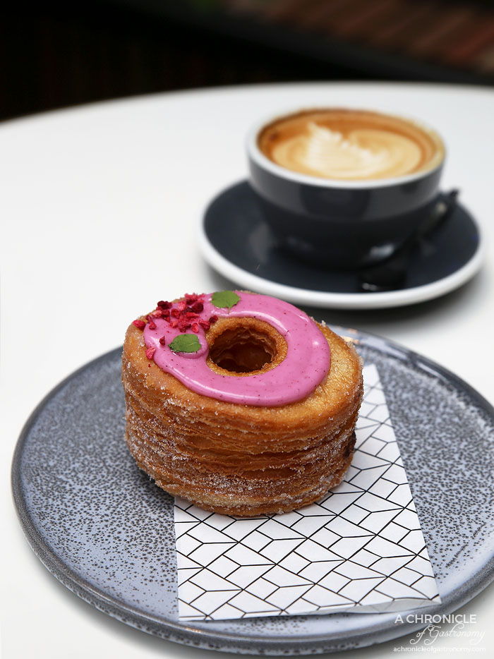 Rustica Canteen Rialto - Blueberry, apricot and maple syrup cronut ($7.50)