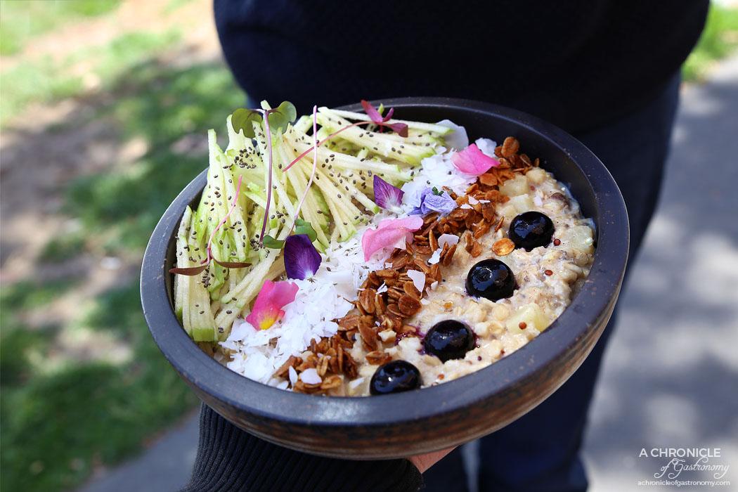 Trillium - Apple Pie Porridge - Chia, quinoa, oats, apple, maple, almond and coconut milk ($11.50)