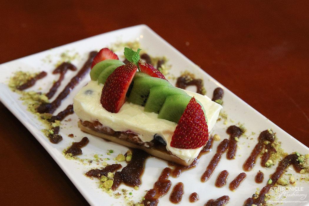 Fork and Fingers - Gulab Jamun Cheesecake w rose petal jam ($11)