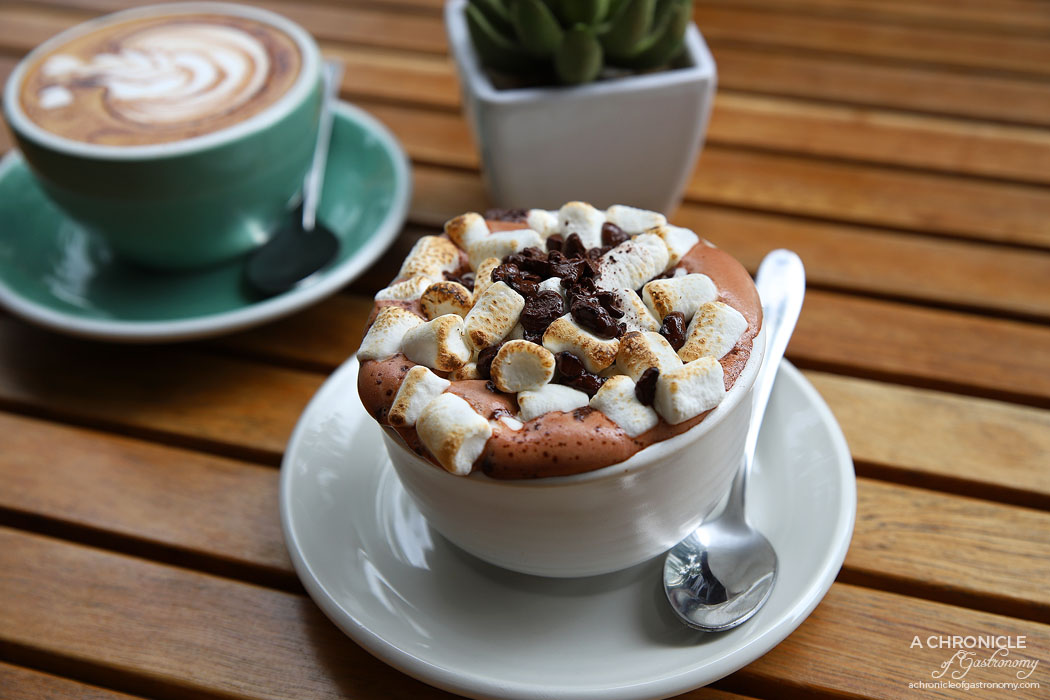Lolo and Wren - The Smork - Rich Mork hot chocolate covered in scorched marshmallows ($6)