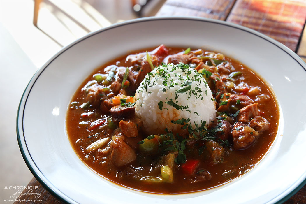 The Moldy Fig - Chicken and Andouille Sausage Gumbo ($20)