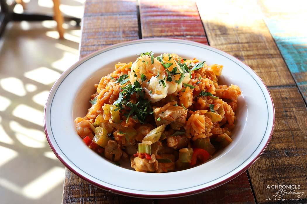 The Moldy Fig - Chicken and prawn jambalaya ($25)