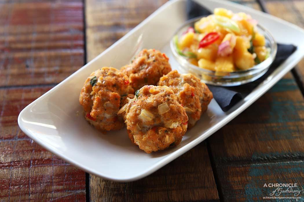 The Moldy Fig - Gator Bites Aussie Style - Crocodile meatballs and mango salsa ($16.50)