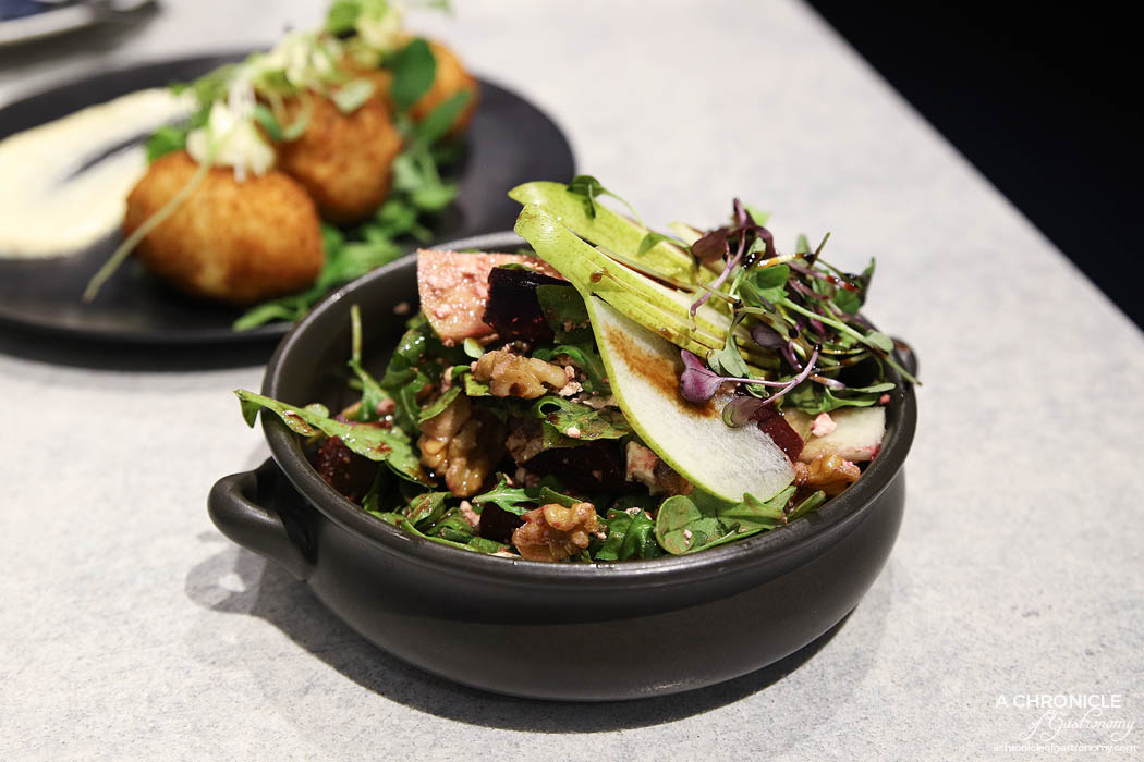 Finch and Jane - oasted Beet, Pear & Walnut Salad ($15)