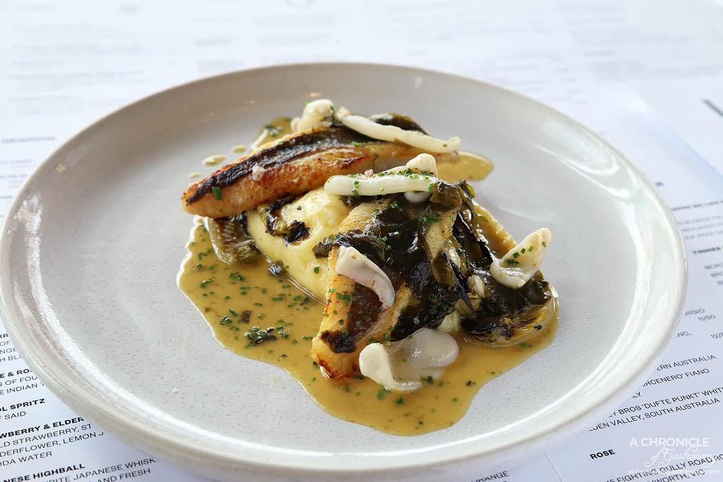 Lover - John Dory - Brown butter, lettuce, cuttlefish, nori ($32)