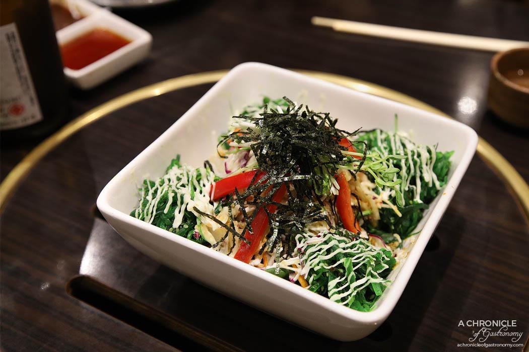 Takumi - Coleslaw and seaweed salad