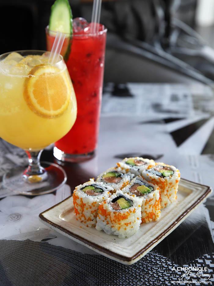 Tokosan - Salmon inside out roll w avocado, cucumber, mayo and caviar ($15)