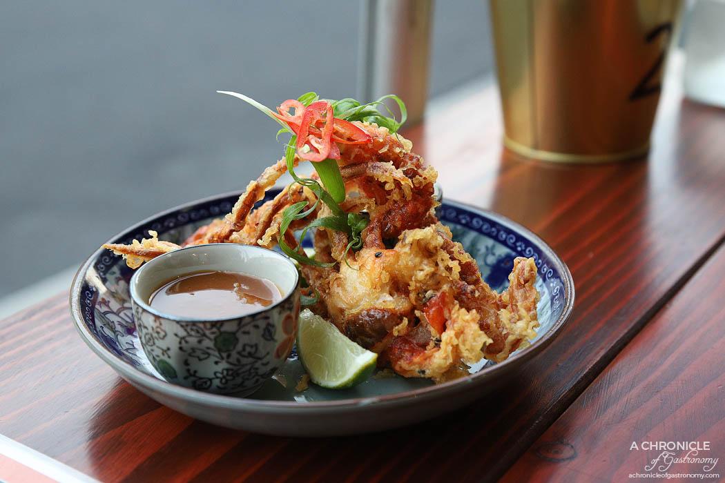 Basco - Miso Krabi - Tempura soft shell crab, miso ginger sauce, sriracha ponzu aioli, fresh lime ($15)