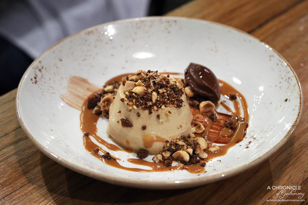 Basta - Dulce de Leche Panna Cotta w hazelnut, chocolate ganache, chocolate crumb