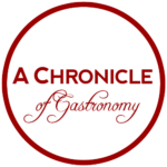 Blog Logo - A Chronicle of Gastronomy Line Circle Thin Tight Crop Transparent outside 500px