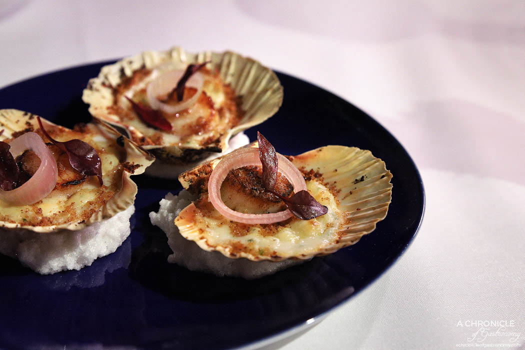Steer Dining - Baked salt cod gratin, aromatic crumb, hand dived scallops ($33)
