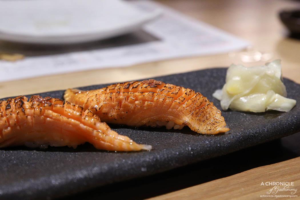 Miss Kasumi - Salmon Toro Aburi Nigiri ($6 ea)