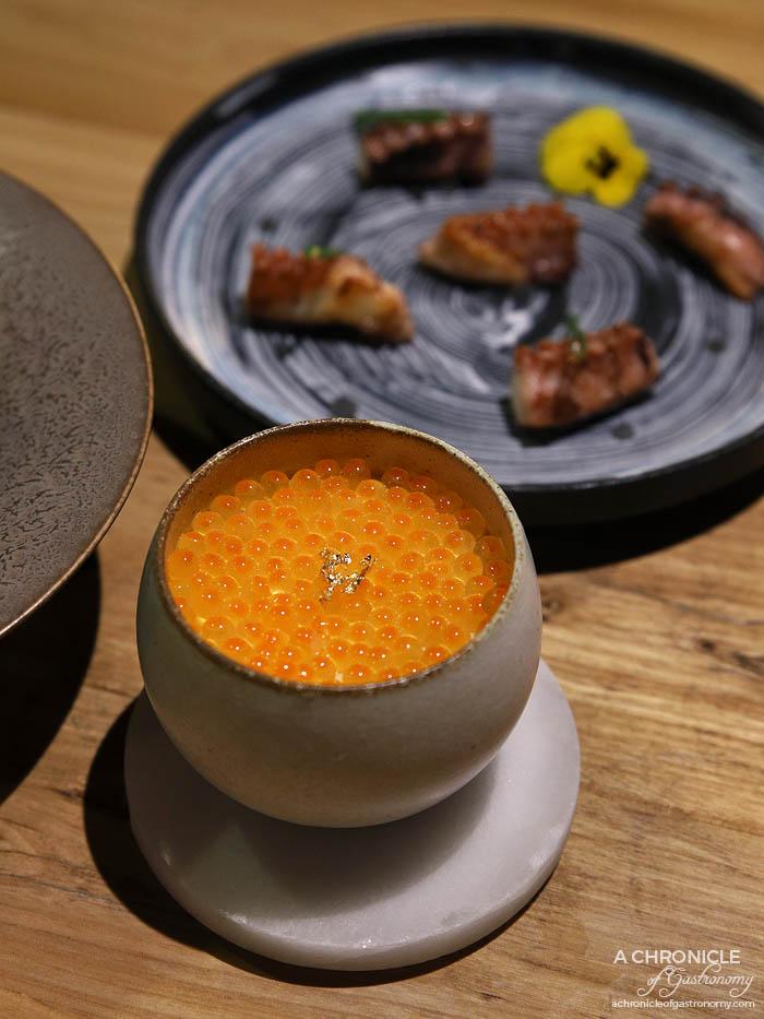 Miss Kasumi - Ikura chawan mushi - Egg custard, Salmon roe ($22)