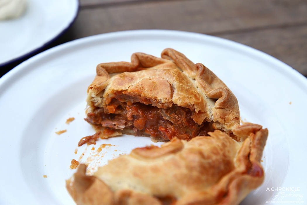 The Pie Shop - The Allen - Chunky beef and veg pie ($8)