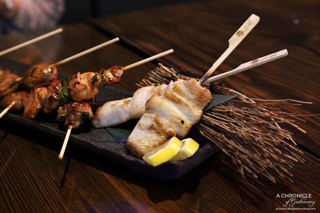 Izakaya Kuuraku - Kingfish yakitori