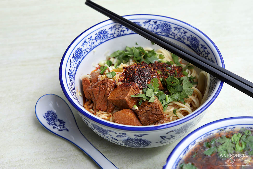 Lanzhou Beef Noodle Bar - Special beef noodle (thin) - Handmade noodles with slow braised beef ($12.80)