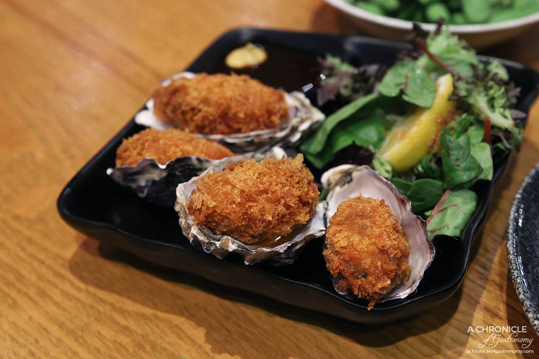 Matsumoto - Kaki Fry - Deep fried crumbed oyster with Japanese BBQ sauce & mustard ($12)