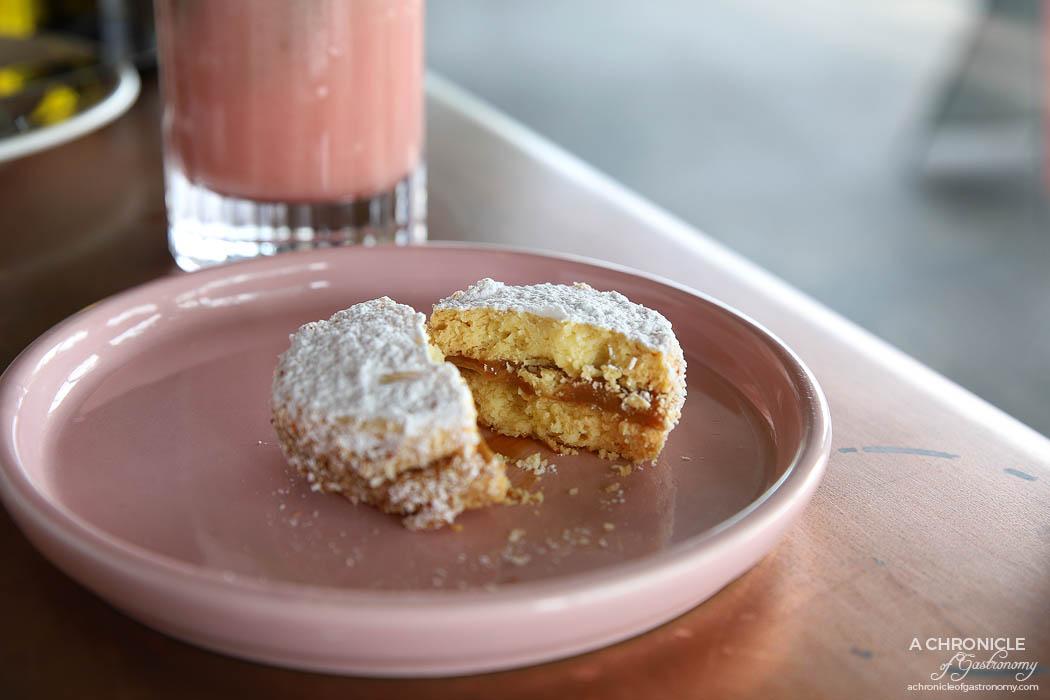Citrico - Alfajores - Shortbread cookie, coconut flakes filled with dulce de leche ($4)
