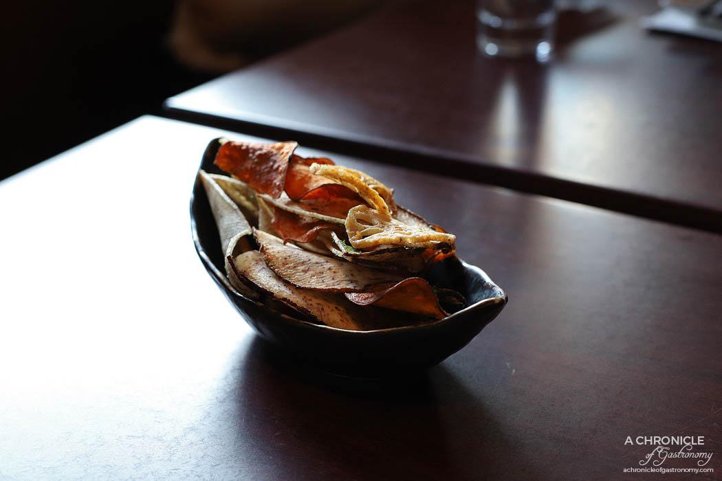 Machi - Lotus root, sweet potato, taro chips