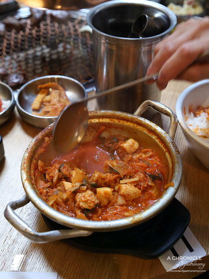 Paik's BBQ - Chibun Daweji Kimchi - Pork and kimchi stew ($14)