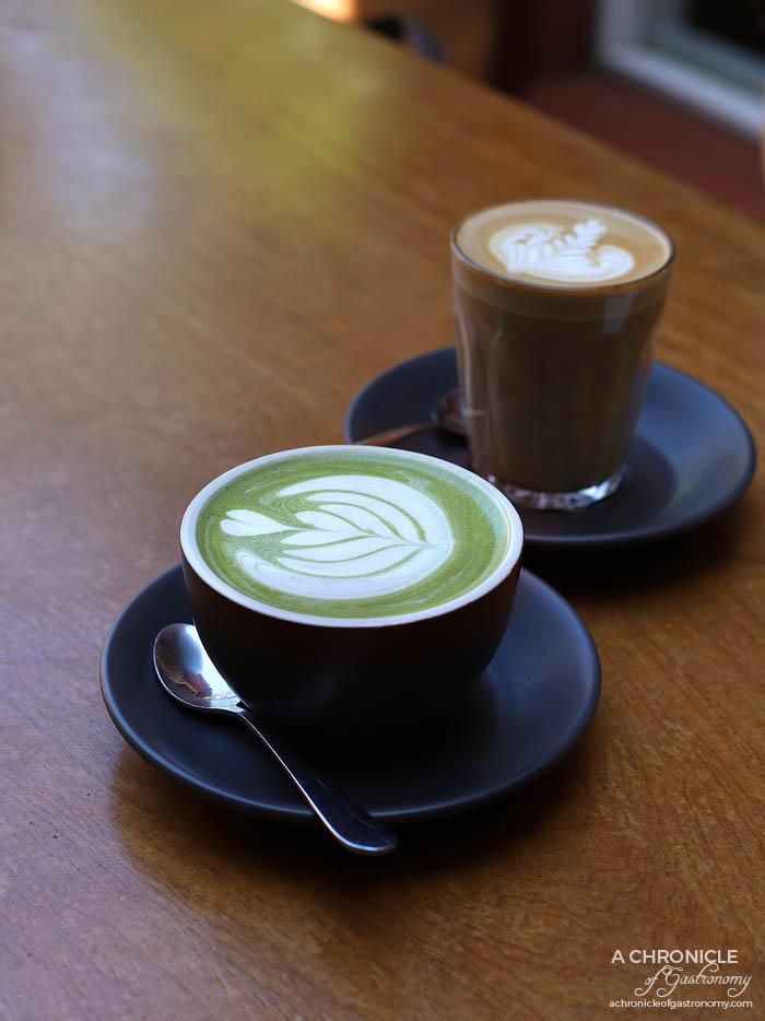The Coventry - Green tea latte ($4.20) Latte ($4.20)