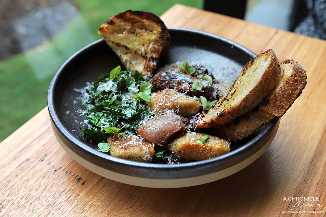 Toorak Tracktor - Slow braised beef ragu, roasted shallots, kale, house-made porcini gnocchi ($21.50)