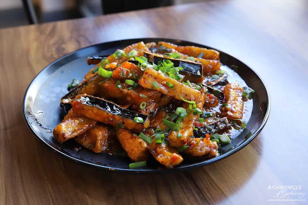 MC Dumpling - Sichuan eggplant ($16)