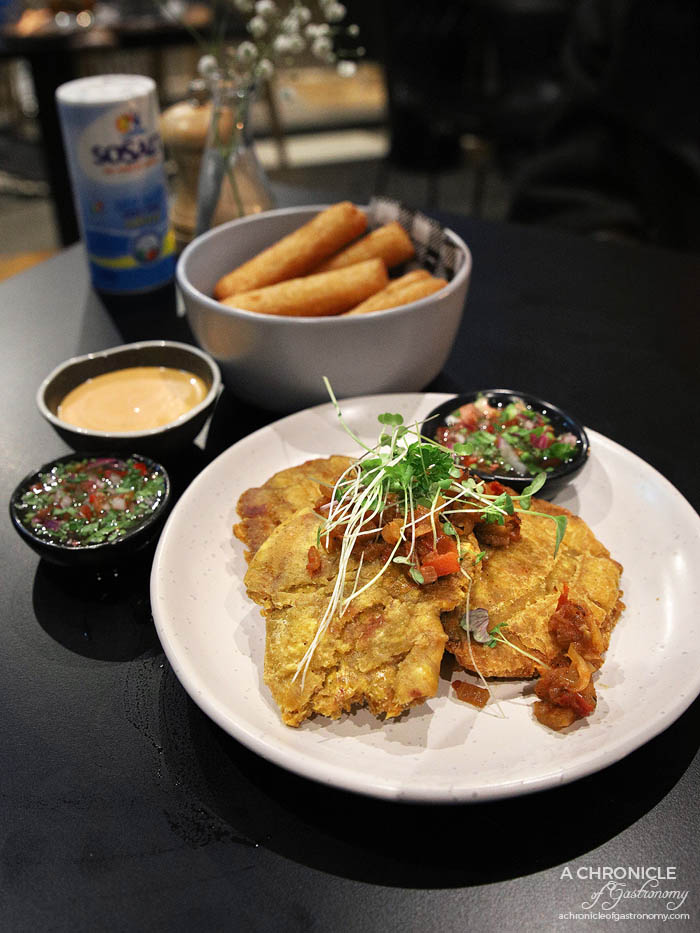 Morrison's - Green plantains w hogao and aji ($12)