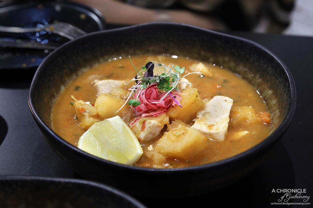 Morrison's - Encebollado - Ecuadorian Fish stew served with cassava and pickled red onions ($21)
