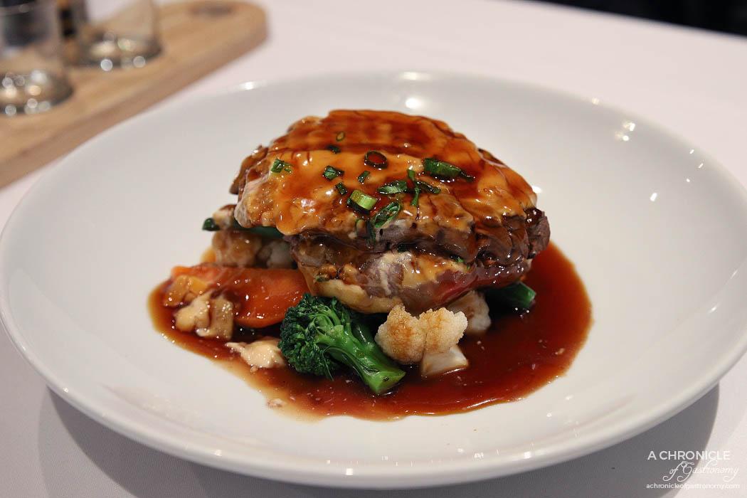 Ayame - Ayame Eye Fillet Steak w seasonal vegetables, miso mayonnaise, spring onion ($36)