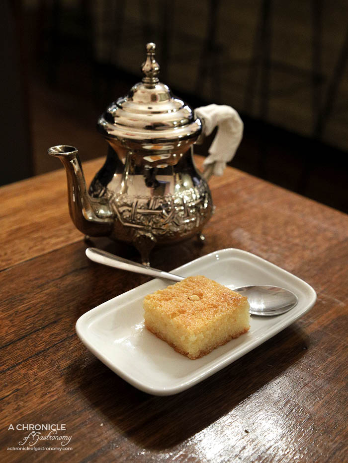 Casa Tajine - Middle Eastern Basbousa - Egyptian semolina cake soaked in rose water, almond extract and honey (2 for $3)