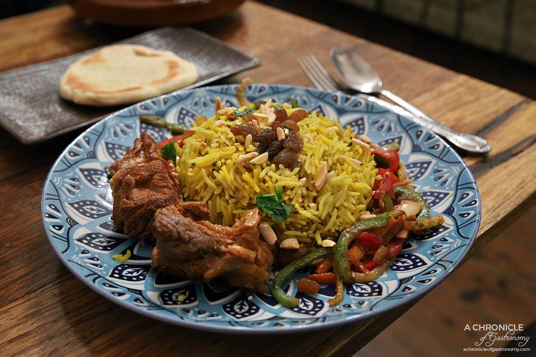 Casa Tajine - Lamb Mandi Rice - Cooked in a tandoor w raisins and nuts ($17)
