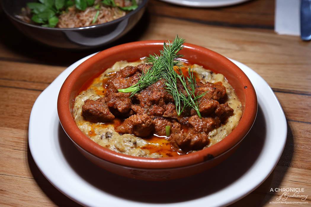 Willsmere Station - Hunkar Begendi - Slow cooked lamb on eggplant puree ($26)
