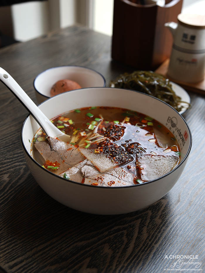 Bowltiful - uthentic Lanzhou Beef Noodle Soup w Er Xi 3mm Noodles ($12.80)