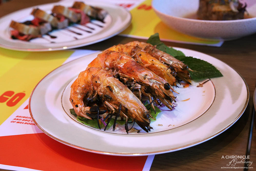 Co Hanh - Butterfly Tamarind Prawns - Chargrilled king prawns with a tamarind glaze