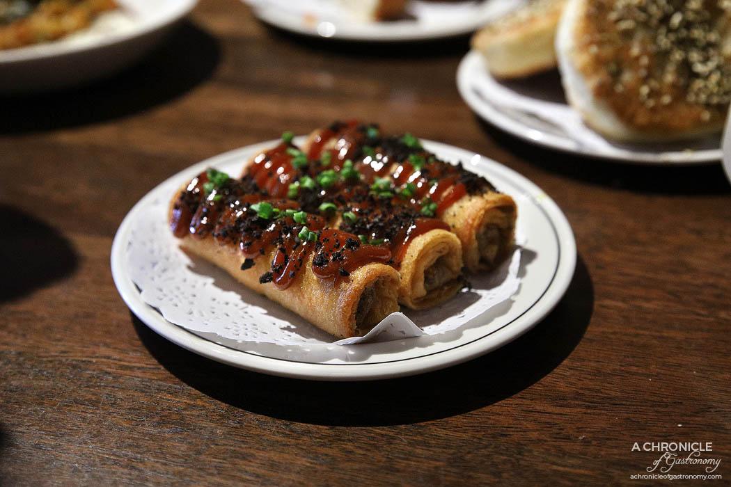 Maha East - Spiced lamb borek, raisin jam & olive ($8 ea)