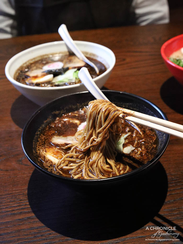 Gogyo Fitzroy - Kogashi Miso - Charred miso base, chicken broth, half umami egg, pork belly chashu, #16F medium-thin noodles (low hydrolysis) ($18)