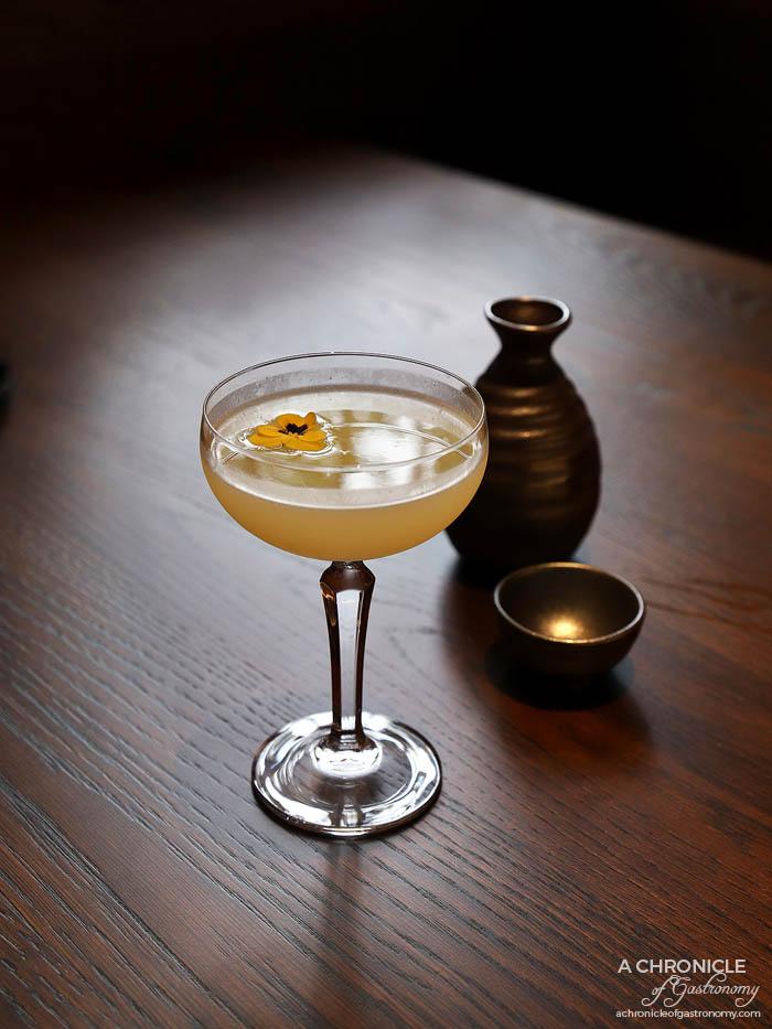 Gogyo Fitzroy - Yuzuki - Yuzu sake, gin, yuzu juice ($16), Hakata no Mori ($19), Nanbu Bijin Daiginjo ($22)