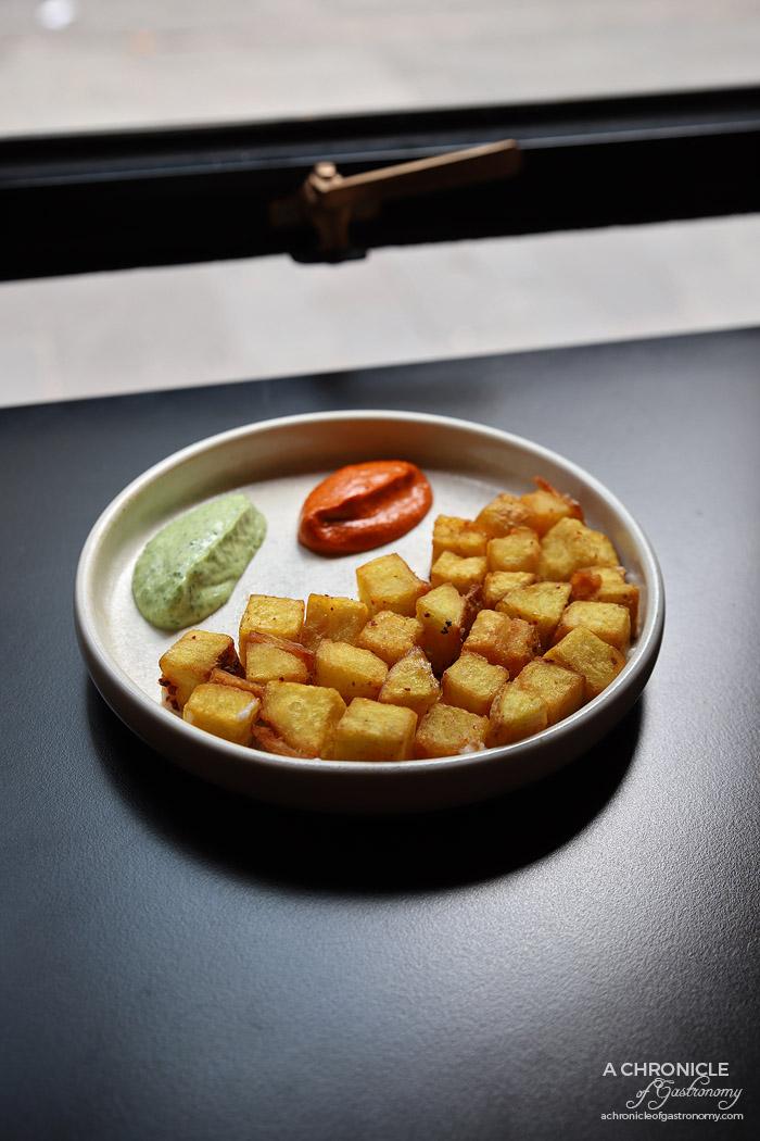 Bar Saracen - Batata Harra - Potatoes, harissa, coriander