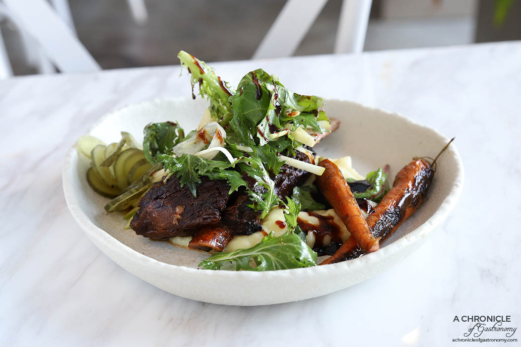 Zero Mode - Triple Cooked Beef Ribs with apple fennel salad, pomme puree ($32)