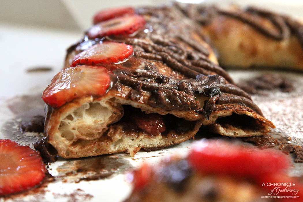 St Domenico - Calzone Fragola - Strawberries topped, chocolate and icing sugar ($18)