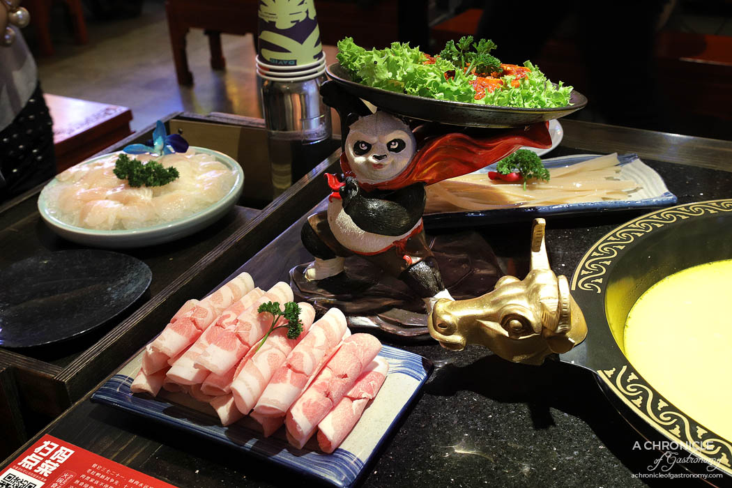Sichuan Pork ($11.80) David's Kung Fu spicy pork ribs ($16.80)